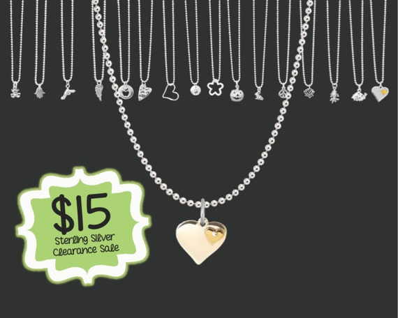 Valentines | CLEARANCE SALE | Two Tone Heart Necklace | Tiny Sterling Necklace | Layering Necklace | Dainty Jewelry | Korena Loves