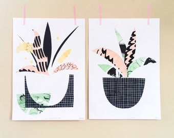 Plant Life A5 Art Print Pair