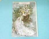 "Vintage Gordon Fraser Wedding Greeting Card Artist Francis Saint-Marc Original Package 10 1/2 ""X 7 1/4""  Beautiful Ephemera"