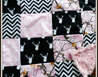 Deer Patchwork Quilt Made To Order