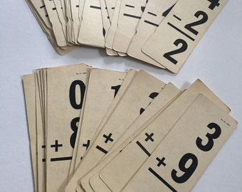 Vintage Addition and Subtraction Flash Cards