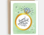 Engagement Card - Congratulations Card - Happy Engagement - Happy Engagement Card - Love Card - Marriage Engagement - Engagement Gift
