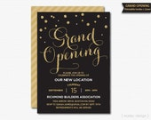 Grand Opening Invitation Corporate Invitation Company Invitation Office Invitation Printable Invitation Grand Opening Party New Location
