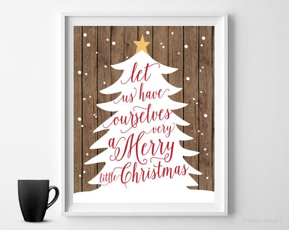 rustic christmas print christmas wall art digital print christmas decor holiday decor printable. Black Bedroom Furniture Sets. Home Design Ideas