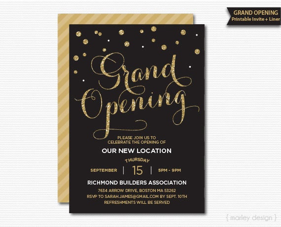 Grand opening invitation corporate invitation company like this item stopboris