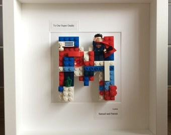 Superman Superdad Batman Lego Fathers, Daddy, Dad Day, Superhero Spiderman Ironman Marvel, DC, Study Bedroom Customised Art Picture