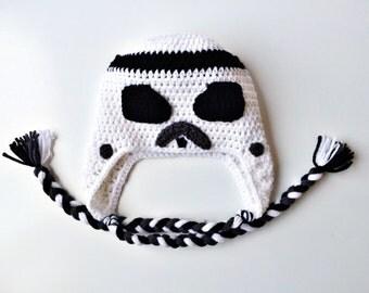 Stormtrooper, Crochet Stormtrooper Hat, Stormtrooper Hat, Stormtrooper Beanie, Crochet Star Wars, Beanie, Boys Hat, Crochet Stormtrooper, Ha