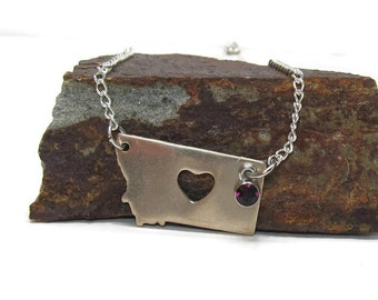 Montana state necklace nickel gift ideas for her gift ideas for her amethyst handmade
