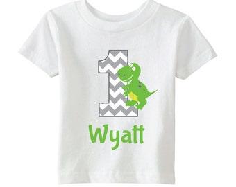 Dinosaur Birthday Shirt - Boys Birthday Shirt - Personalize with Name and Age