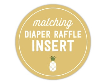 Matching Diaper Raffle Insert - Add On - To Match Any Invitation in My Shop