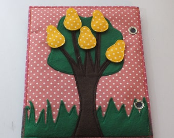 Quet Book-Activity Book-Busy Book-Felt book-Fruit Tree Page