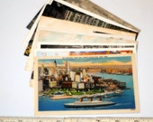 9 vintage NEW YORK CITY postcards - unused lot - linen, white border, chrome 3 1/2 x 5 1/2