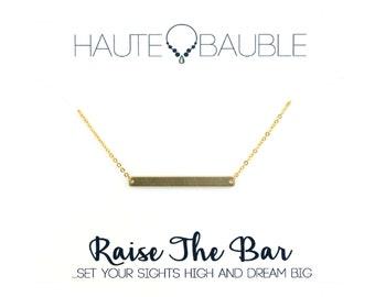 Raise the Bar Minimalist Pendant Necklace