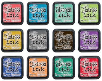 Ranger - 12 Color of Month 2015 - Tim Holtz - Distress Ink Pad Lot
