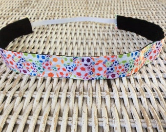 Girl Soccer Headband -  Womens Sports Hair Bands