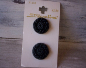 Streamline bottons/Plastic buttons/Black scroll bottons/Sewing bottons/13/16'' botton/Sewing suppply bottons/Embellishment/Sewing projects