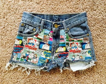 FLASH SALE! One of a kind Family Guy 22/23 High Waist Levi Shorts