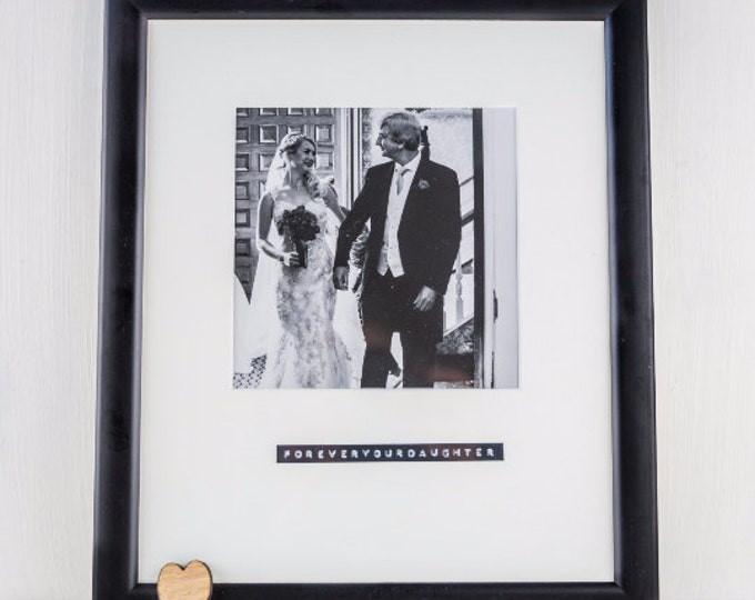 Featured listing image: Black Photo Frame - Personalised Frame - picture Frame For Boyfriend - Boyfriend Gift - Fathers Day Gift - Retro Frame - Picture Frame - Wed
