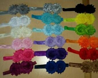 Shabby flower headband set CLEARANCE!!!
