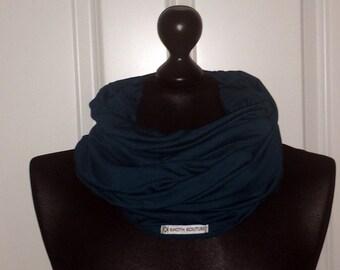 Jersey loop scarf XXL petrol blue