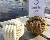 21 Nautical Wedding Rope Table Number Holders - Manila and Cotton mix - Nautical Wedding Knots