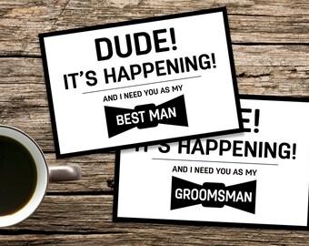 Best Man Proposal, Best Man Card, Groomsmen cards, Best Man Invitation,  Will you be my groomsman, Usher Card, funny best man cards