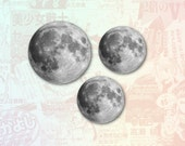 Moon Set of 3 Stickers