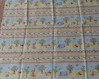 Pooh and Friends Cotton Fabric by the Yard
