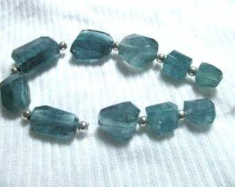 Big  AAA Grade Stunning Rare 10 Pc  Blue  Polished Indicolite Tourmaline Hand Faceted Top Grade Beads  Afghanistan  T99