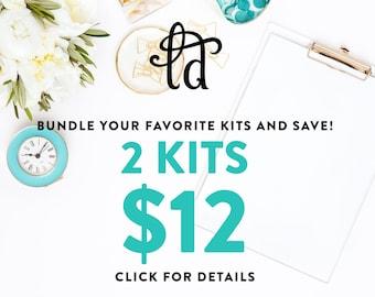 PICK 2 KITS - Choose two printable kits and save
