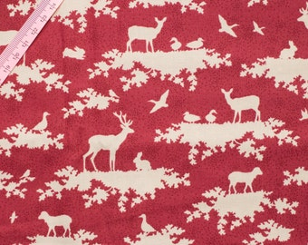 Tilda Forest Carmine Red Fabric of Tilda's Sweetheart Collection - Large Fat Quarter