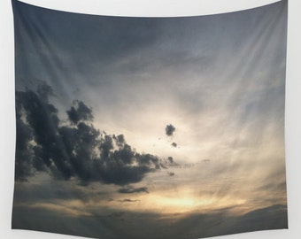 Sky Wall Tapestry, sky tapestry, sky wall hanging, cloud wall tapestry, clouds tapestry, sunset tapestry, dorm room decor, dorm tapestry