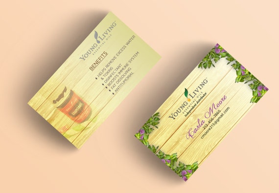 young living business cards vistaprint independent distributor