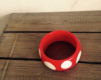 Chunky red white point bracelet-natical jewelry
