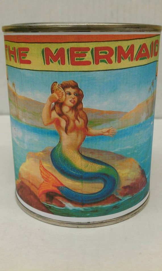 MERMAID - Amazing Mermaid Wood Wick Candle - Awesome Gift - , Free Shipping in United States 16 0z