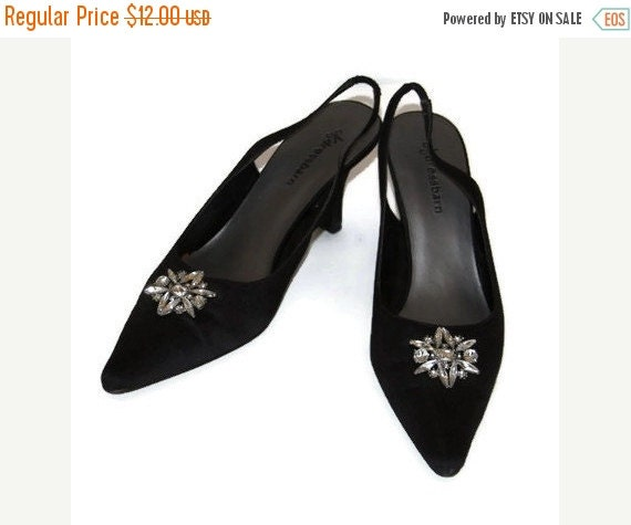 womens dress shoes black pumps leather sole fabric by raymels