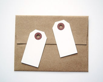 White Shipping Tags / Gift Tags / Hang Tags Pack of 50