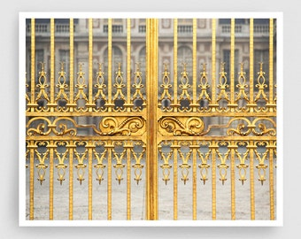 Versailles photography - Gate of Kings -Palace of Versailles,Art,Paris,Fine art photography,wall art,art print,Poster,home decor,yellow,gold