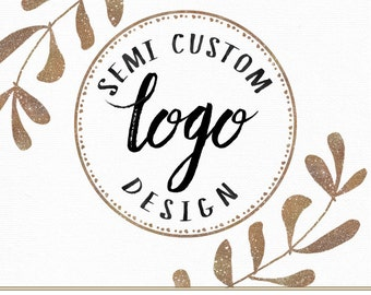 Semi Custom Logo Design Hand Drawn Ooak for Photographer Photography Studio Boutique Small Business