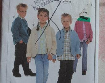 Burda 9601 Kids Jacket Pattern Sewing Pattern  - UNCUT - Sizes  8 - 14