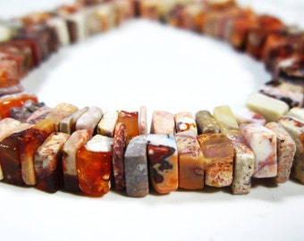 "2 Strands-Mexican Opal Smooth Cube Heishi- 16""Strand-Stone measures -5mm"