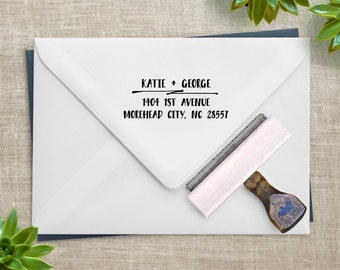 Return Address Stamp - Wedding Invitations, RSVP Envelopes & Holiday Cards - Personalized Gift