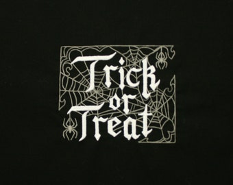 Trick or Treat Embroidered Quilt Block