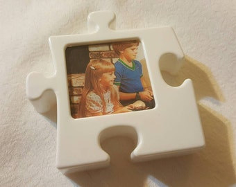 1980s Puzzle Picture Frame, free shipping