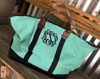 Tote/Weekender Bag/Colorblock Weekender Bag with Monogram