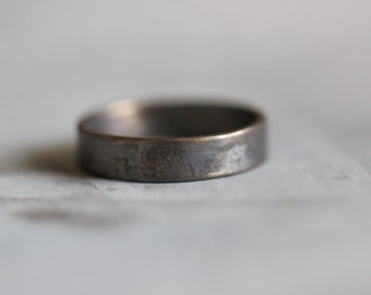 CHASE:  Mens Wedding Ring, HIS, Wedding Band, Sterling Silver, Modern, Minimalist, Rustic, Bohemian,  Made To Order