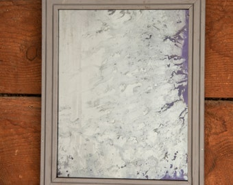 Distressed Silver Glass Mirror, Antiqued Silver Wall Mirror