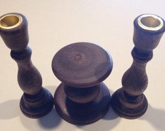 Oak Unity candle holder set