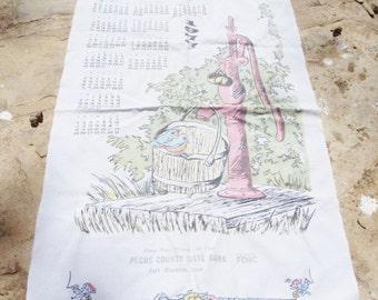 1977 Fort Stockton Texas Calender Towel for Birthday Gift
