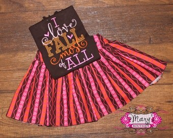 I Love Fall Most of All Skirt Set